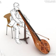 By designing this peculiar musical instrument, an Iranian designer won a prize at the World's largest design competition. The instrument is a combination of a bowed instrument resembling a cello and a wind instrument. And it sounds amazing!