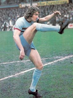 1973. The enigma that was Ted MacDougall. Manchester United paid £200,000 to Bournemouth for the centre forward but eight months later was sold to West Ham United for £150,000. His Hammers career included just 5 goals before John Bond took him Norwich City after just six months.