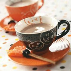 Drink your coffee in these perfect Halloween cups! Add a candy witches ...