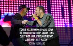 Oh Jonny, and then you fell in (musical) love xD #coldplay #JonnyBuckland #ChrisMartin