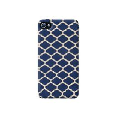 Vintage In Navy Apple iPhone 4/4S Case from Cyankart