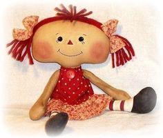 Doll Pattern, PDF, Instant Download, SEWING pattern, Rag Doll, Ragdoll, Cloth Doll, Softie, Soft Toy, Digital Download