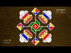 """Thank You for watching Music Credits:""""Royalty Free Music from Bensound"""" All the content including hand Image published on this channel is our own creative wo. Rangoli Borders, Rangoli Border Designs, Rangoli Patterns, Rangoli Designs With Dots, Rangoli Designs Diwali, Rangoli With Dots, Dot Rangoli, Indian Rangoli, Easy Rangoli"""