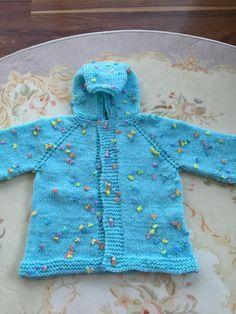 Handmade Knit Baby Girl Jacket by NJKNITHOUSE on Etsy https://www.etsy.com/listing/262632752/handmade-knit-baby-girl-jacket