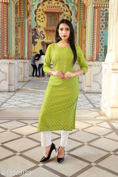 Checkout this latest Kurtis Product Name: *Aishani Ensemble Kurtis* Fabric: Rayon Sleeve Length: Three-Quarter Sleeves Pattern: Solid Combo of: Single Sizes: M, L, XL, XXL Country of Origin: India Easy Returns Available In Case Of Any Issue   Catalog Rating: ★4 (448)  Catalog Name: Adrika Graceful Kurtis CatalogID_3044690 C74-SC1001 Code: 994-15269123-939