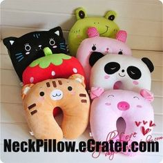 Animal Pillow by Neckpillow so cute