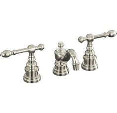 Kohler K-6811-4 	IV Georges Brass Widespread Bathroom Faucet with Ultra-Glide Valve Technology - Includes Metal Pop-Up Drain Assembly Polished Nickel