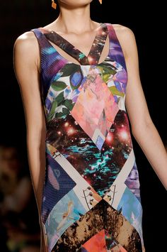 First color blocking, then fabric blocking and now print blocking!--- Nicole Miller at New York Fashion Week Spring 2013