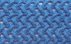 Плетеный узор спицами. Схема, описание