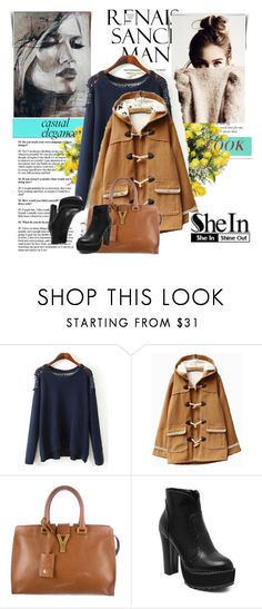 """Shein 5/7"" by amelaa-16 ❤ liked on Polyvore featuring moda, Yves Saint Laurent, DENY Designs y shein"