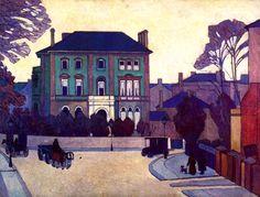 The Athenaeum - BEVAN, Robert English Camden Town Group (1865-1925)_The Green House, St. John's Wood - 1919