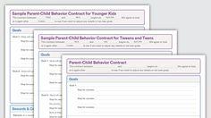 Download: Parent-Child Behavior Contracts