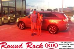 https://flic.kr/p/KqGmxg | Happy Anniversary to Stacie  on your #Kia #Sorento from L Abrego at Round Rock Kia! | deliverymaxx.com/DealerReviews.aspx?DealerCode=K449