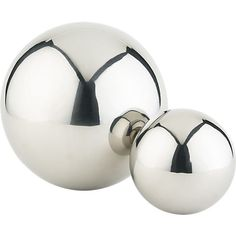 stainless steel balls in table top decor | CB2