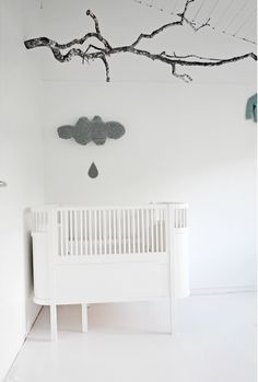 simple minimal white gray nursery