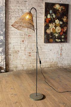 Kalalou Floor Lamp With Rattan Shade – Modish Store