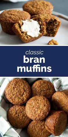 A healthy breakfast or snack to keep on hand these Classic Bran Muffins are easy to make and filled with fiber. They make the perfect grab and go breakfast! Healthy Muffin Recipes, Healthy Muffins, Breakfast Healthy, Healthy Baking, Paleo Pumpkin Bread, Healthy Pumpkin, Pumpkin Recipes, Banana Bran Muffins, All Bran