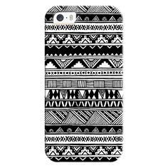 iPhone 6 Plus/6/5/5s/5c Bezel Case - Cute Girly Black White Tribal... ($35) ❤ liked on Polyvore featuring accessories, tech accessories, iphone case, tribal print iphone cases, iphone cover case, pattern iphone case, aztec iphone case and apple iphone cases