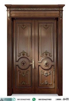 Home Door Design, Front Door Design Wood, Double Door Design, Wooden Door Design, Wooden Double Doors, Wooden Doors, Simple Ceiling Design, Traditional Front Doors, Double Doors Exterior