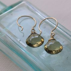Image of lemon quartz earrings