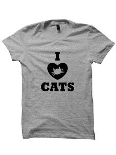 Cat T-Shirt I Heart Cats T-shirt Cat Shirts #Cats #CatLove #IHeartCats Ladies Tops Mens Tee Tees Cool Gift Birthday Gift Christmas Gift Pets by StyleWars on Etsy https://www.etsy.com/listing/268071385/cat-t-shirt-i-heart-cats-t-shirt-cat