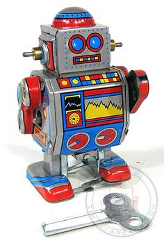 Mini D Robot Classic Tiny Tin Toy at TinToyArcade.com