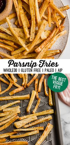 These baked parsnip fries are the perfect snack to satisfy your fry cravings! They're paleo, AIP, nightshade-free and vegan. Paleo On The Go, Vegetable Side Dishes, Paleo Recipes, Food Print, Cravings, Dairy Free, Veggies, Yummy Food