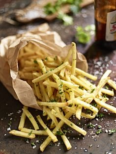 Equator Photography | Parsley Salt Fries and Beer. Photographer- Tom Law.