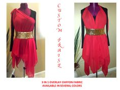 chiffon fabric overlay 3 in 1. $45.00 dollars, belt $14.00