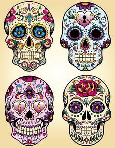 This is Calavera Skull Dia De Los Muertos Tattoo Design photo 1 Caveira Mexicana Tattoo, Tattoo Caveira, Sugar Skull Tattoos, Sugar Skull Art, Sugar Skulls, Skull Candy Tattoo, Sugar Skull Painting, Sugar Skull Design, Sugar Tattoo