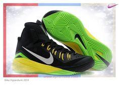 online retailer d34ec 66dd2 Nike Hyperdunk 2014 Black Grass   Green Yellow 653640-033 Outlet 4CCMD0 Air  Jordan