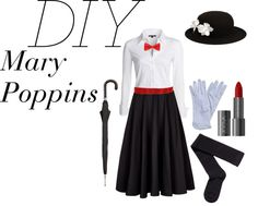 """""""Mary Poppins Halloween Costume"""" by lizajayne on Polyvore"""