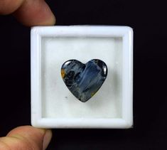 16.05 Cts. 100 % Natural Pietersite Heart Cabochon Loose Gemstone #Handmade