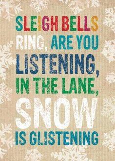 Snow is glistening...
