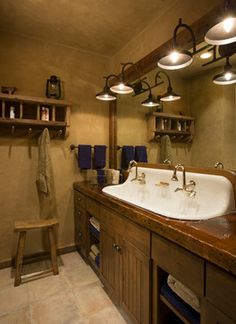 Yellowstone Club Residence - rustic - bathroom - other metro - Locati Architects