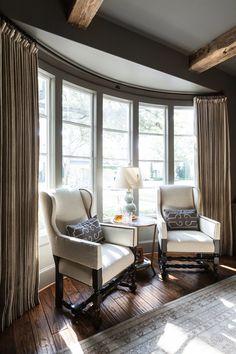 Marie Flanigan Interiors - Sherwin Williams Anonymous - Circa Lighting Celadon Lamp - Pakistan Oushak Rug - Madison Lily - Ballard Coffee Table - Wood Beams