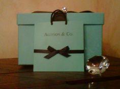 Sweet Sixteen Tiffany Theme Invitation & Tiffany Card Box from Etsy
