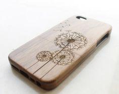 Walnut Wood iPhone 5c Case, Wooden iPhone 5c Case, Dandelion iPhone 5c Case