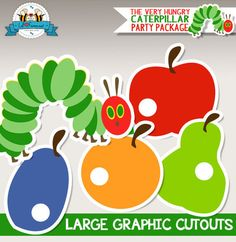 The Very Hungry Caterpillar Large Graphics Cutouts - Instant Download