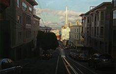 Greg Gandy, Taylor at Washington, Oil on Panel, 24 x 36 inches, 2009