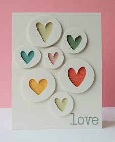 Love Hearts handmade card by Ang Mansfield of Paper and Ribbons