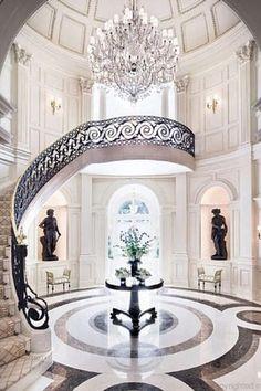 Art Deco Entryway With Bronzioni Bronze Homme Nu David 65 Cm Nude Man Sculpture Simple Floor DesignStair DesignHouse DesignMarble