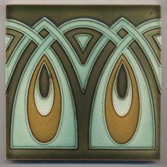Super rare GWF Ornament Augen Jugendstil Fliese art nouveau tile