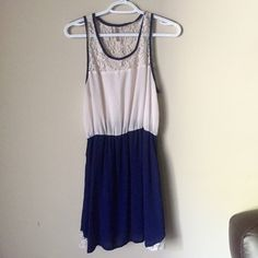 Blue and White Dress Only worn a couple times, in great condition! Bought from local boutique Dresses Midi