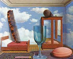 Reproduction de Magritte, Les valeurs personnelles. Tableau peint à la main dans nos ateliers. Peinture à l'huile sur toile.