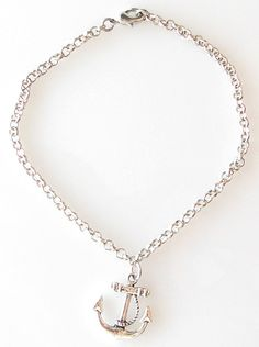 ankle bracelet anchor silver anklet anchor jewelry by KriyaDesign,