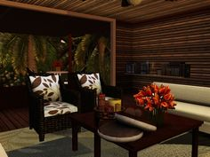 tropical living room 2 (butterfly)
