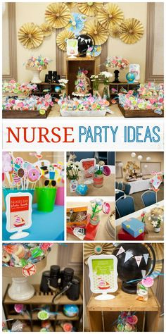 Celebrate nurses with these fun party ideas, with photo props and more! See more party ideas at CatchMyParty.com!