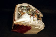 Wagnalls Wheel, 2010, Altered Set of Encyclopedias What Brian Dettmer does with books is mind-blowing. Soft Standards, 2009, Altered Books Fate Far Fast Fa