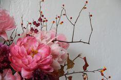Wedding Ideas: sarah-winward-pink-flowers-berries